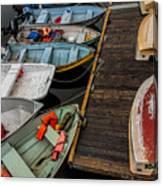 Dinghies At Town Wharf Canvas Print