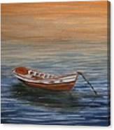 Dinghy At Dusk Canvas Print
