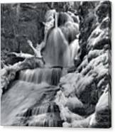 Dingmans Falls In Winter Canvas Print