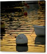 Dingy And Mooring Canvas Print