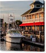 Dining At The Marina Canvas Print