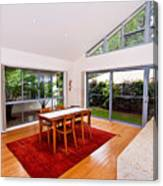 Dining Room With Slanted Ceiling Canvas Print