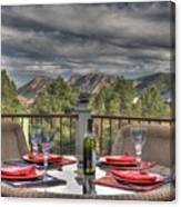 Dining With A View Canvas Print