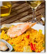 Dining With Paella Canvas Print