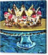 Dinner Cake Canvas Print