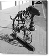 Dinosaur Biking Sculpture Grand Junction Co Canvas Print
