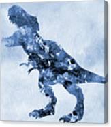 Dinosaur Rex-blue Canvas Print