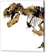 Dinosaur Sepia Print Canvas Print