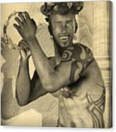 Dionysus Sepia Old Canvas Print