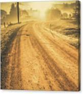 Dirt Road Sunrise Canvas Print