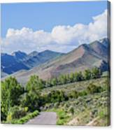Dirt Road To Serenity Canvas Print
