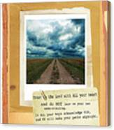 Dirt Road With Scripture Verse Canvas Print