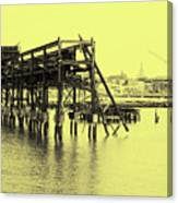 Disappearing Pier Canvas Print