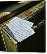 Discarded Notes Canvas Print
