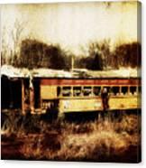 Discarded Train Canvas Print
