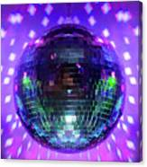 Disco Ball Purple Canvas Print