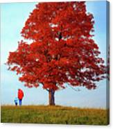 Discovering Autumn Canvas Print