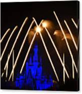 Disney Castle Fireworks Canvas Print