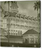 Disney World The Grand Floridian Resort Vintage Canvas Print