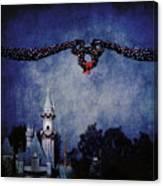 Disneyland Castle At Christmas Time Canvas Print