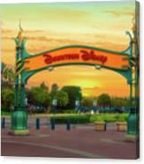 Disneyland Downtown Disney Signage 02 Canvas Print
