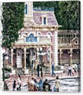 Disneyland Fire Truck Pa 03 Vertical Canvas Print