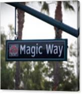 Disneyland Magic Way Street Signage Canvas Print