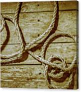 Dispatched Ropes And Voyages Canvas Print