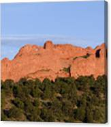 Distant Camels In The Garden Of The Gods Canvas Print