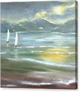 Distant Coast Canvas Print