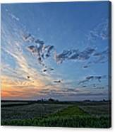 Distant Farm Canvas Print
