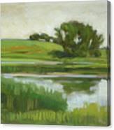 Distant Farm Canvas Print