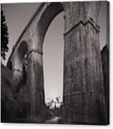 Distant Mountain And Long Bridge Canvas Print