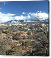 Distant Mountain Range Canvas Print