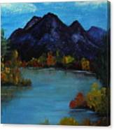 Distant Mountain View Canvas Print