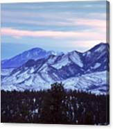 The Distant Peaks Of Pikes Canvas Print