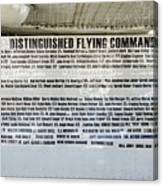 Distinguished Flying Command  Canvas Print