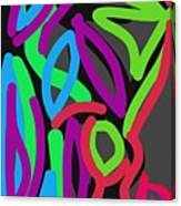 Distorted Geometry Canvas Print