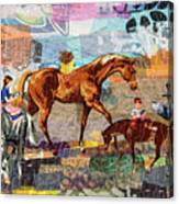 Distracted Riding Canvas Print
