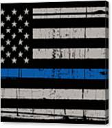 Distressed Thin Blue Line Canvas Print