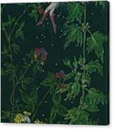 Ditchweed Fairy Raspberry Picking Canvas Print