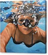 Diving Canvas Print