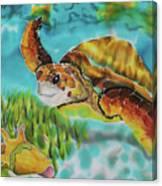 Diving Conch Canvas Print