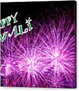 Diwali Greetings Card Canvas Print