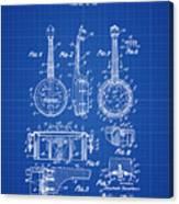 Dixie Banjolele Patent 1954 In Blue Print Canvas Print