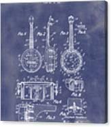 Dixie Banjolele Patent 1954 In Grunge Blue Canvas Print