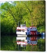 Dixie Belle River Boat Canvas Print