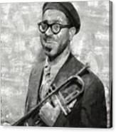 Dizzy Gillespie Vintage Jazz Musician Canvas Print
