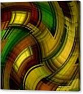 Dizzy Plaid Canvas Print