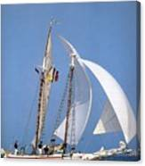 dk tall ships fiddlers green gaff schooner lyr 1973 D K Spinaker Canvas Print